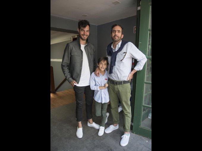 Santiago Saracho con Santiago Lebrija y Santiago Lebrija
