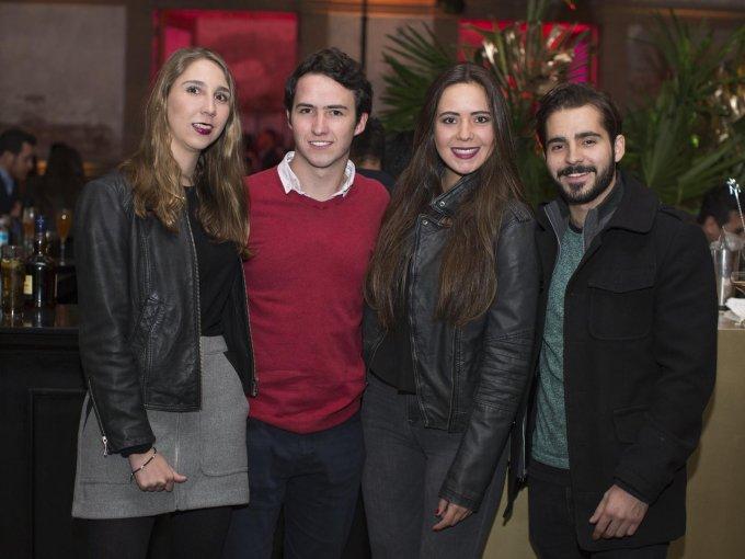 Luciana Pérez, Javier Rodríguez, Mariana González y Eduardo Manzanelli