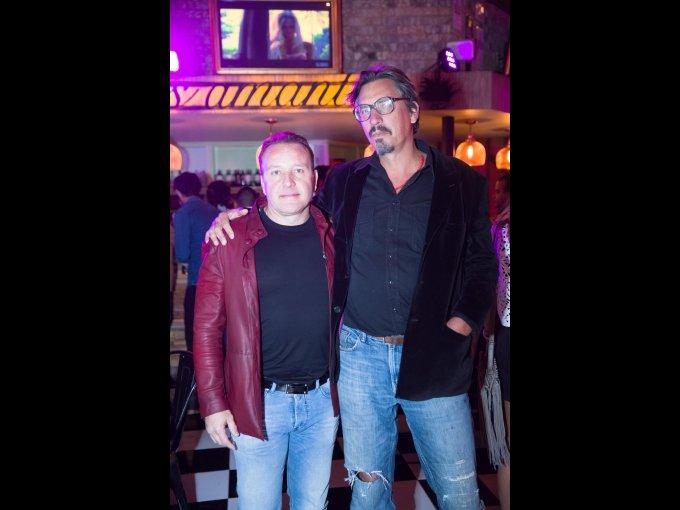 Gerardo Rejón y Ruiz de Velasco con Guillermo Olguín Mitchell