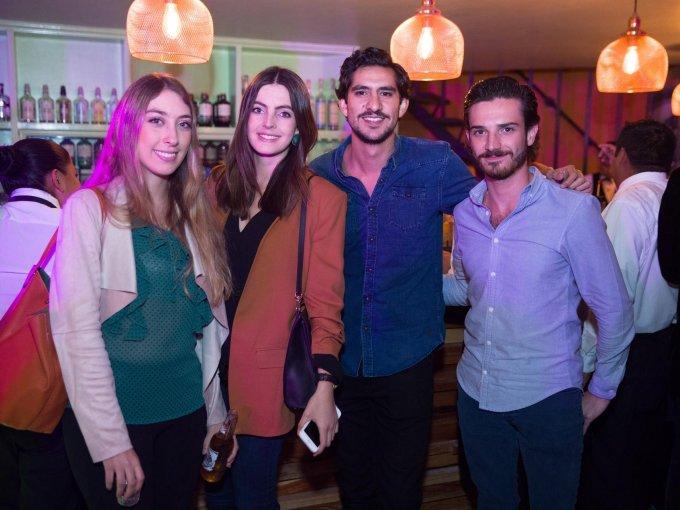 Ximena Castillo, Alejandra España, Pablo Echeverría y Antonio Cortés