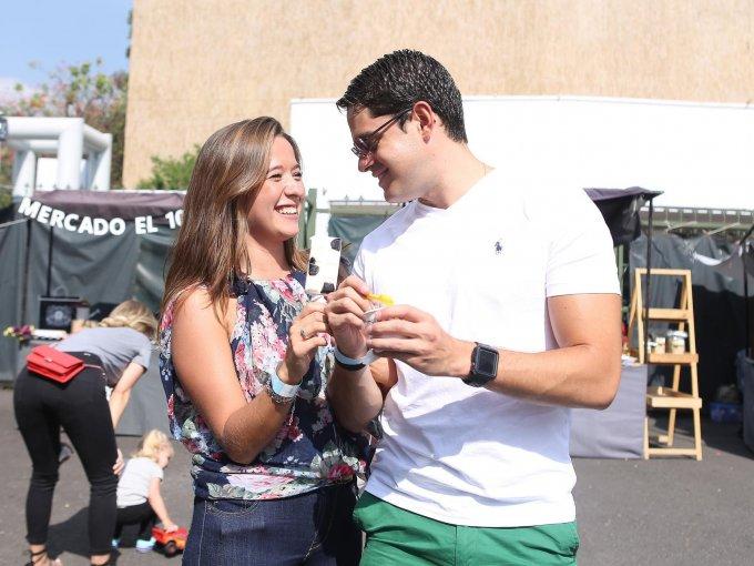Alejandra Moreno con Mike Rodríguez