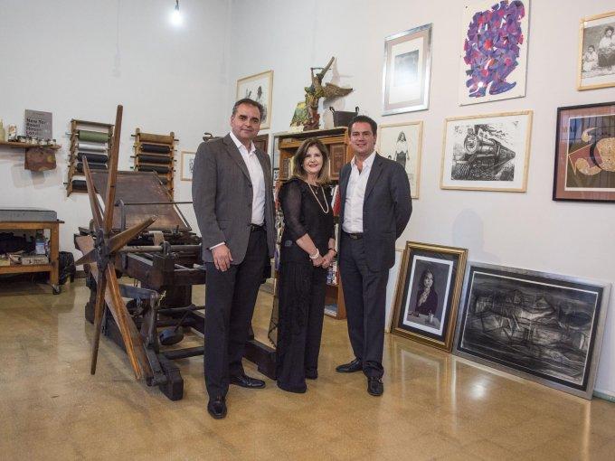 Gabriel Carbonell, María Amparo Clausell y EricK O'Farrill