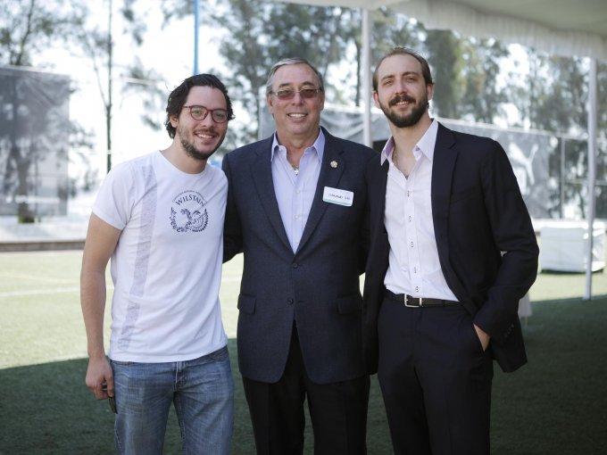 Alejandro Díaz con Eduardo y Eduardo Kohlmann