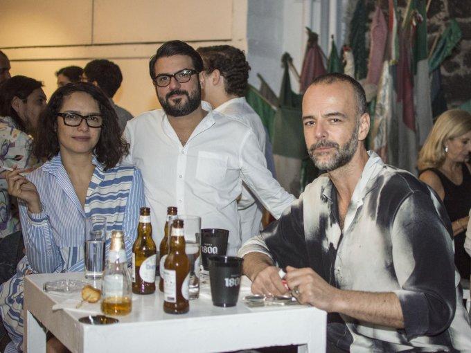 Pamela Echeverría, Rodrigo García y Rodrigo Feliz