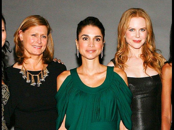 Rania de Jordania y Nicole Kidman