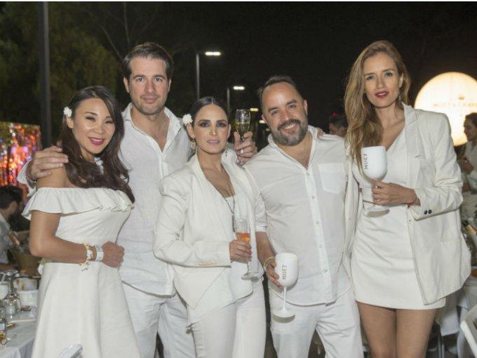 Nancy Taira, Jorge Laines, Ximena Herrera, Alejandro Tovilla y Blanca Luna.