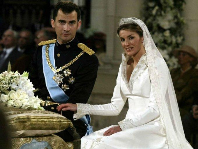 Letizia, quien había sido periodista, se casó con el príncipe Felipe en 2004.
