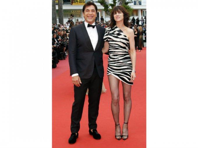 Javier Bardem y Charlotte Gainsbour fueron dos de los anfitriones en la noche de apertura.