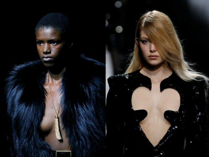 Saint Laurent presenta su colección otoño-invierno en Paris Fashion Week. Mira las fotos: