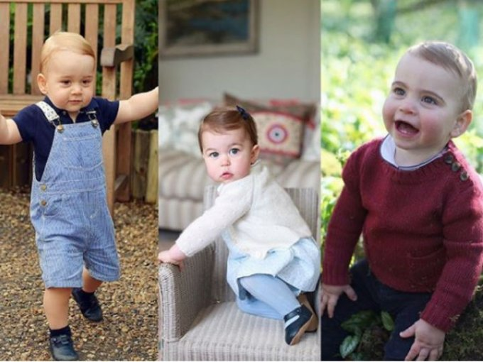 Estos son los 3 hijos de William y Kate