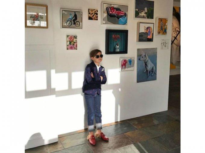 Alonso Matteo ha sido un niño fashion desde muy pequeño.
