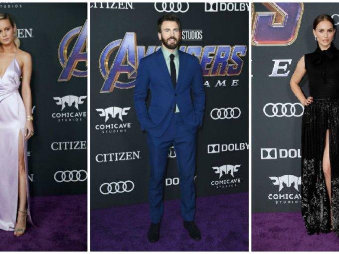 Ellos fueron algunos de los mejor vestidos en la alfombra roja de la premier de Avengers: Endgame.