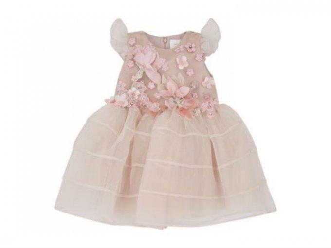 Este vestido Mischka Aoki para bebé tiene un precio de 35 mil pesos.