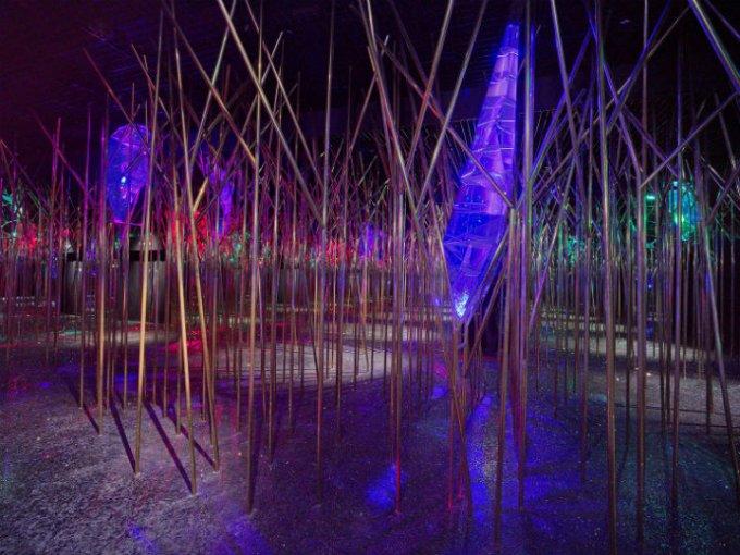 El edén: La idea es crear un paisaje que evoque un bosque.
