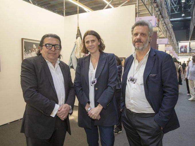 Hilario Galguera, Mónica Bottani y Damiano Urbani
