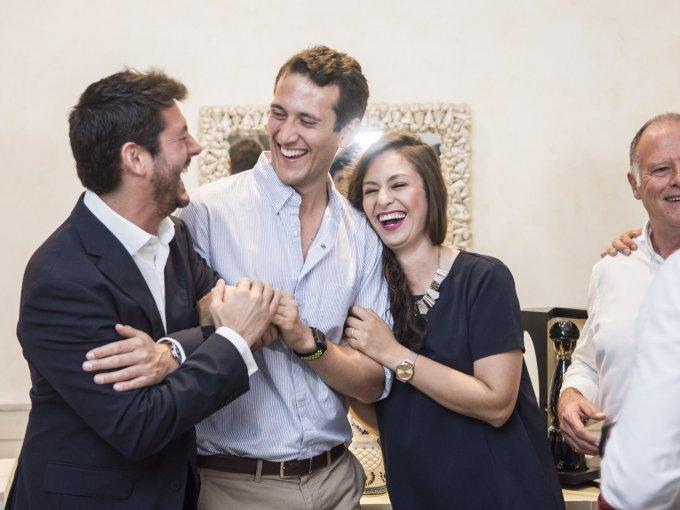 Brian King, Nicolás Moretti y María José García