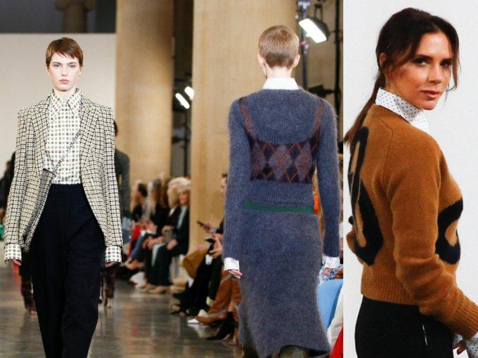 El rojo y los estampados fueron los protagonistas de la colección Victoria Beckham. Esto es lo más destacado: