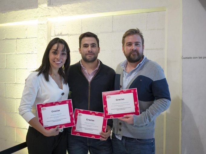 Oriana Mazón, Daniel Castro y Fernando Buchanan