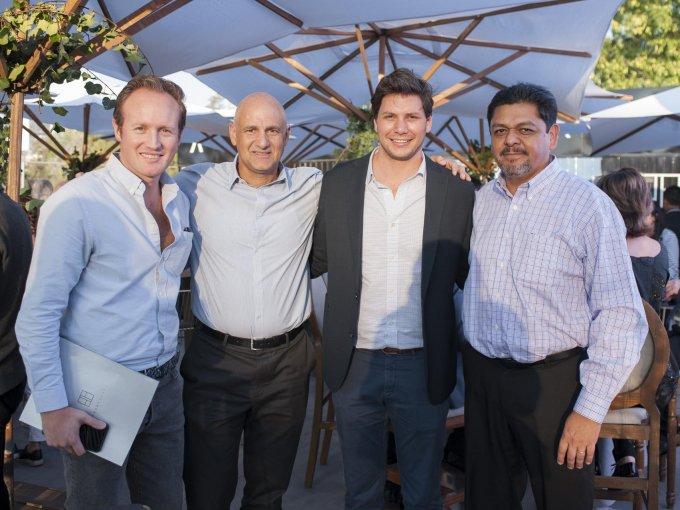 Santiago Córdova, José Antonio Abusaid, Óscar Tame y Juan de Dios Torres