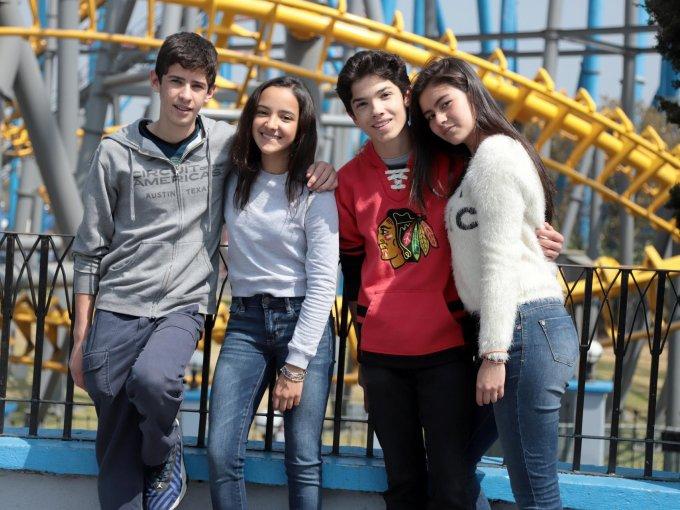 Santiago Garza, Valeria Castañeda, Jorge Martínez y Andrea Calvo