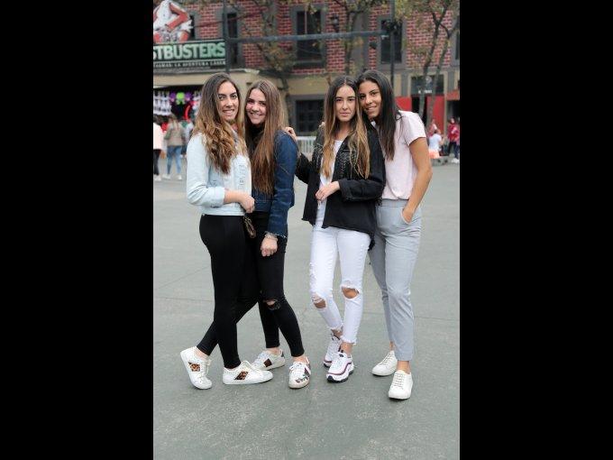Camila Huerta, Micaela Romero, Valeria Calvillo y Sofía Aguayo