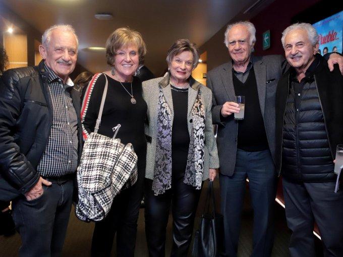 Abraham Abadi, Lili Talostozky, Dina Garber, Abraham Talostozky y Jaime Garber