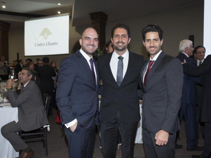 Daniel Karam con Pepe y Omar Badui