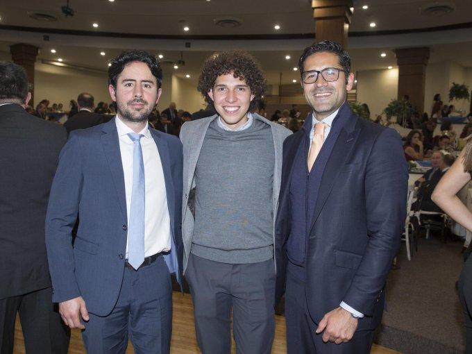 Christo González, Mark Neme y Pablo González