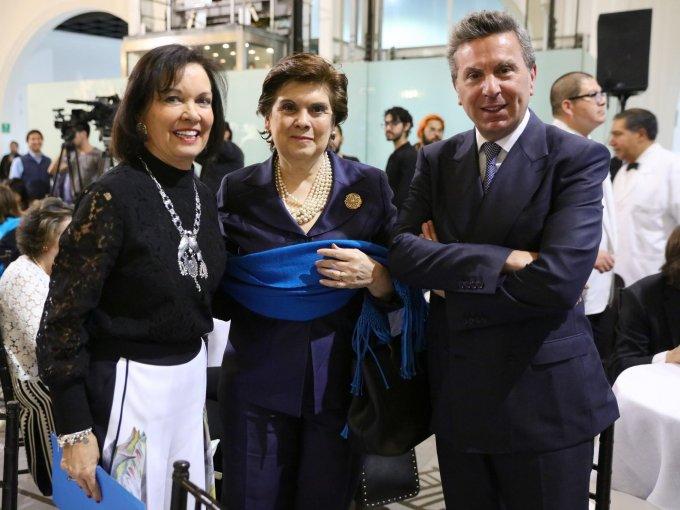 Cecilia Moctezuma, Sari Bermudez y Rafael Micha