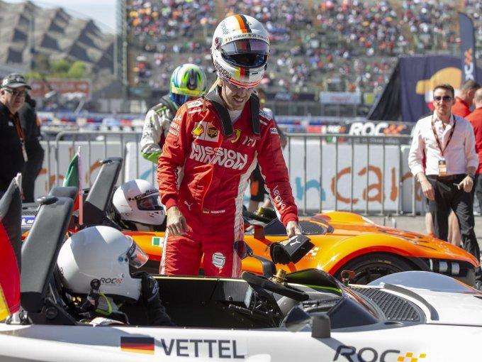Daniel Hajj y Sebastian Vettel