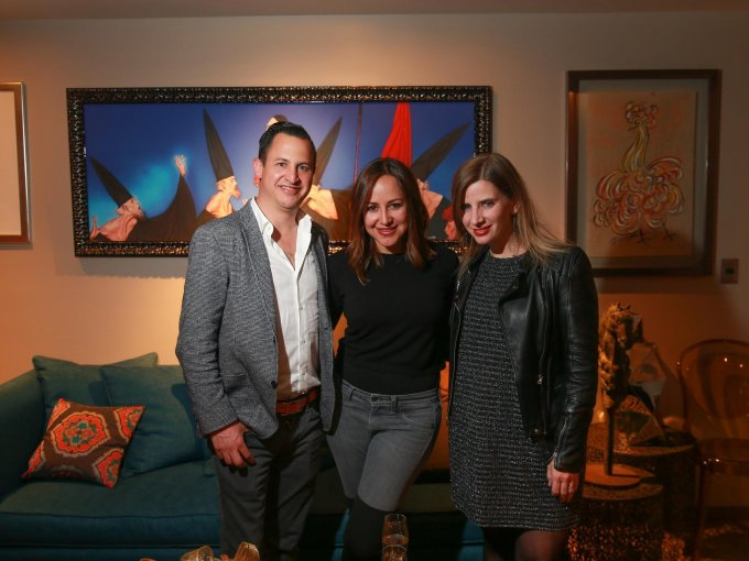 Luis López, Karina Manterola y Emily Cassignac