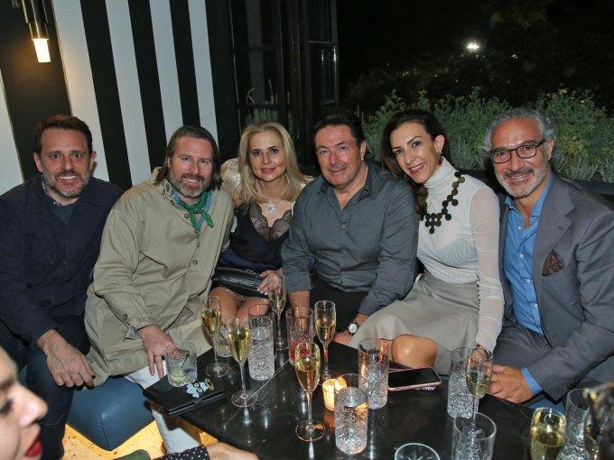 Rudy Weissenberg, Rodman Primack, Araceli y Ángel Rodríguez con Celia Daniel y Víctor Mizrahi