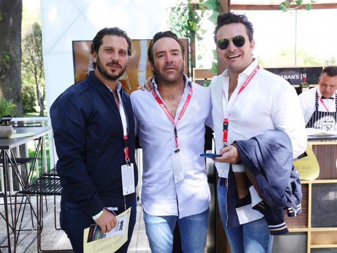 Guillemo Manzur, Emilio Gamboa y Pepe Cuaik