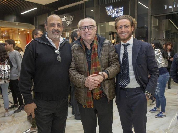 Rafael Cababie con Jaime y Moisés Kanan