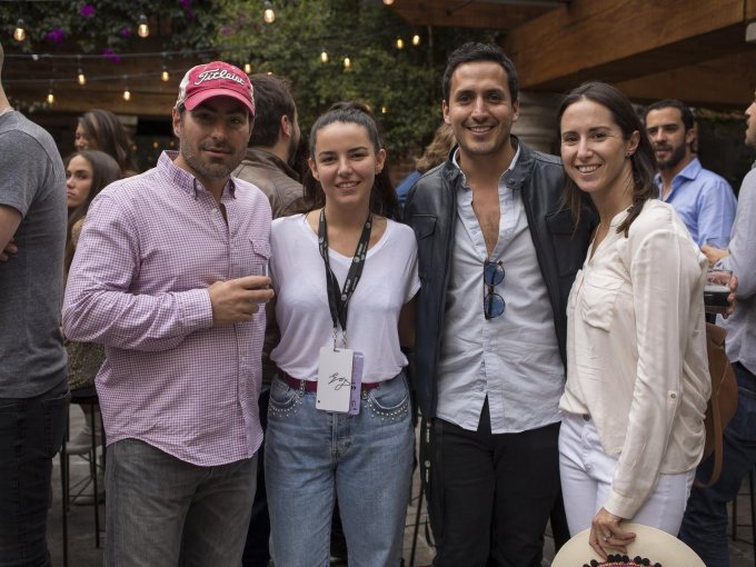Juan Pablo Kuri, Maria Pallarés, Miguel Kaim y Mariana Vega