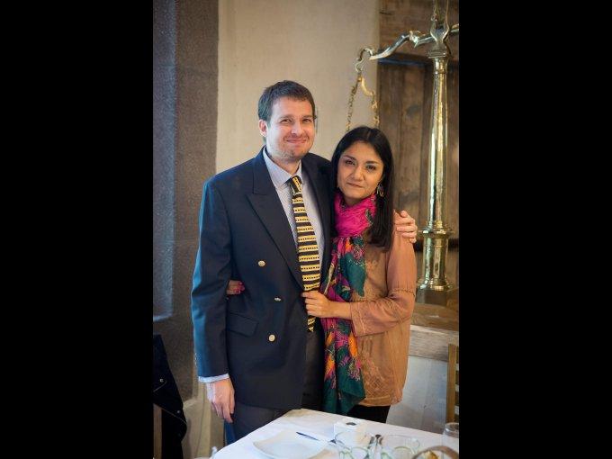 Rafael Heredia y Andrea Villa