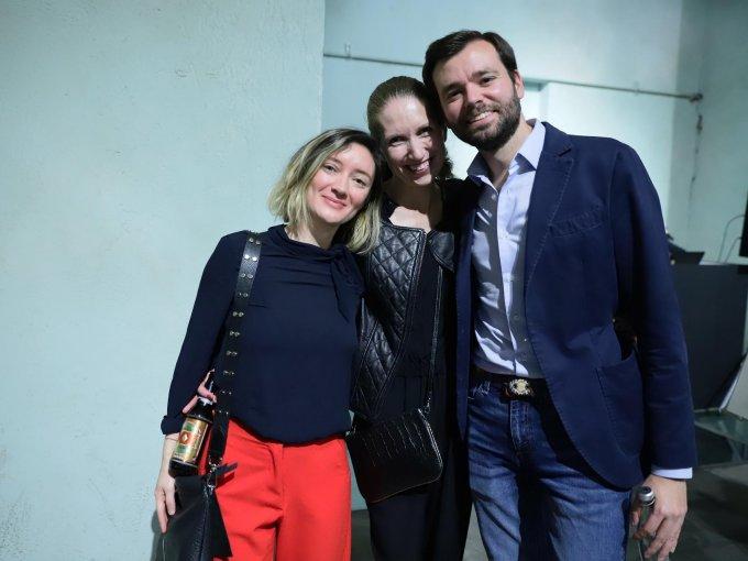 Ámbar Purcell, Carmen Robles y Ramón Salcedo