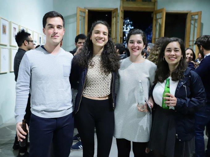Ángel Carballo, Florencia Azar, María Carballo y Ana Toscano