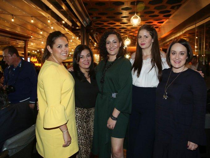 Gina Rangel, Karla Lara, Jimena Pérez, Beba Worbis y Fernanda Barbosa