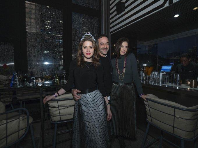 Ivana de María, Jonathan Franklin y Sol Camacho