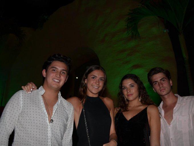 Santiago Rodríguez, Edén Carrera, Daniela Villanueva y Eduardo García