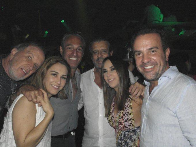 Lalo Cesarman, Patricia Alarcón, Carlos Slim Domit, José Gregorio, Mariana Rangel y Andres Vázquez del Mercado