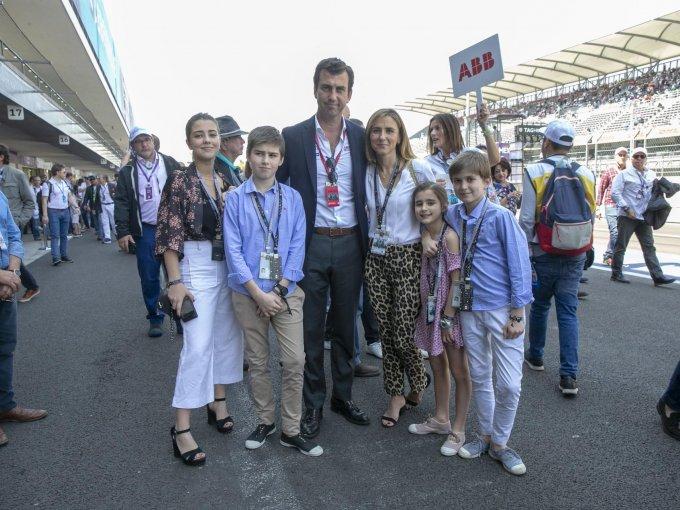 María, Jaime, Alberto, Rocío, Rocío y Alejandro Longo
