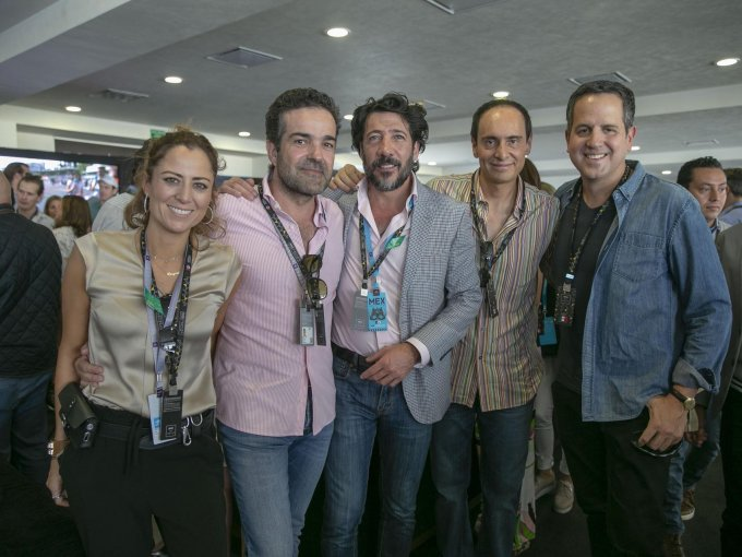 Laryssa Mayagoitia, Jaime Porres, Mariano Martínez, Juan Carlos Cachoua y Eduardo Carrega