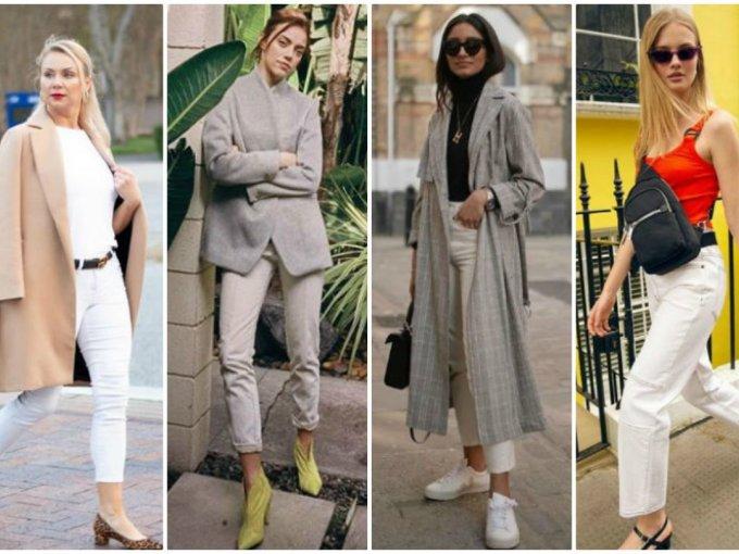 Piérdele el miedo a los jeans blancos y con estos outfits que seguro te encantarán.