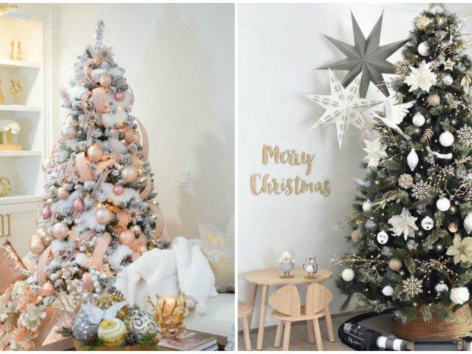 ideas de arboles de navidad Ideas De Decoracin De Rbol De Navidad Blanco Y Elegante