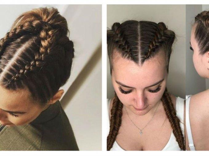 Trenzas boxeadoras cabello corto