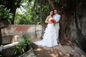 Los novios se juraron amor eterno en compañía de sus seres queridos en Cuernavaca, Morelos.