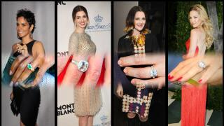 Con la temporada de bodas acercándose, hicimos un recuento de los anillos más impresionantes que las celebridades llevan en sus dedos.