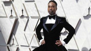 Billy Porter llegó con un vestido negro a la alfombra roja de los Oscar 2019. Foto: Reuters